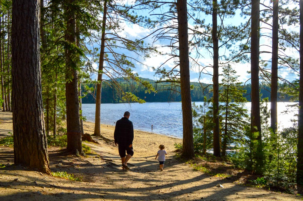 Richard and Abbey Evening Stroll at Pog Lake, Algonquin Park July 2015